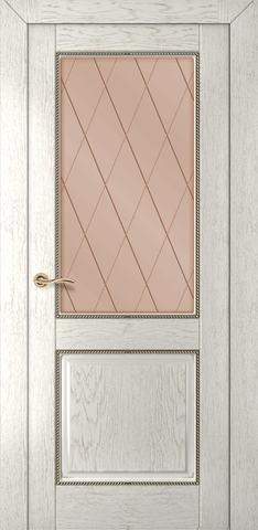 Дверь Румакс Гранд ДО, стекло сатинат бронза гравировка, цвет капучино, остекленная