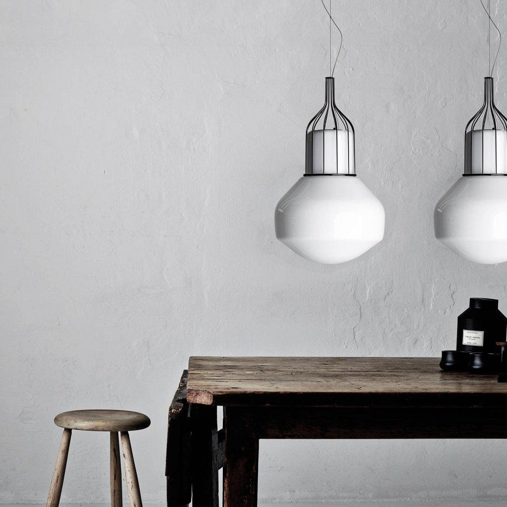 Подвесной светильник копия AEROSTAT mini by Fabbian (черный)