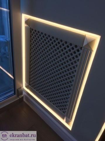 Экран-фасад на батарею