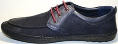 Мужские мокасины на шнурках Luciano Bellini 32011-00