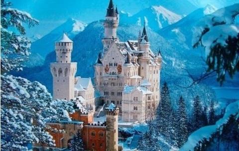 Алмазная Мозаика 30x40 Заснеженный замок
