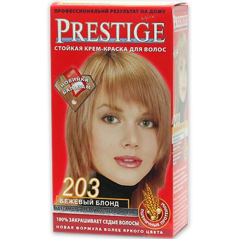 Краска для волос Prestige 203 - Бежевый блонд, 50/50 мл.