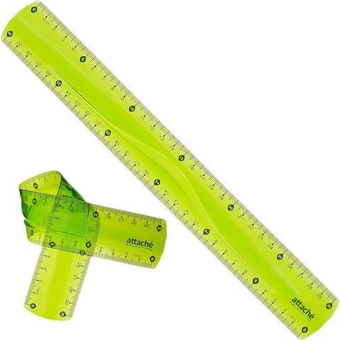 Линейка Attache Selection Flexible 30 см пластиковая супергибкая