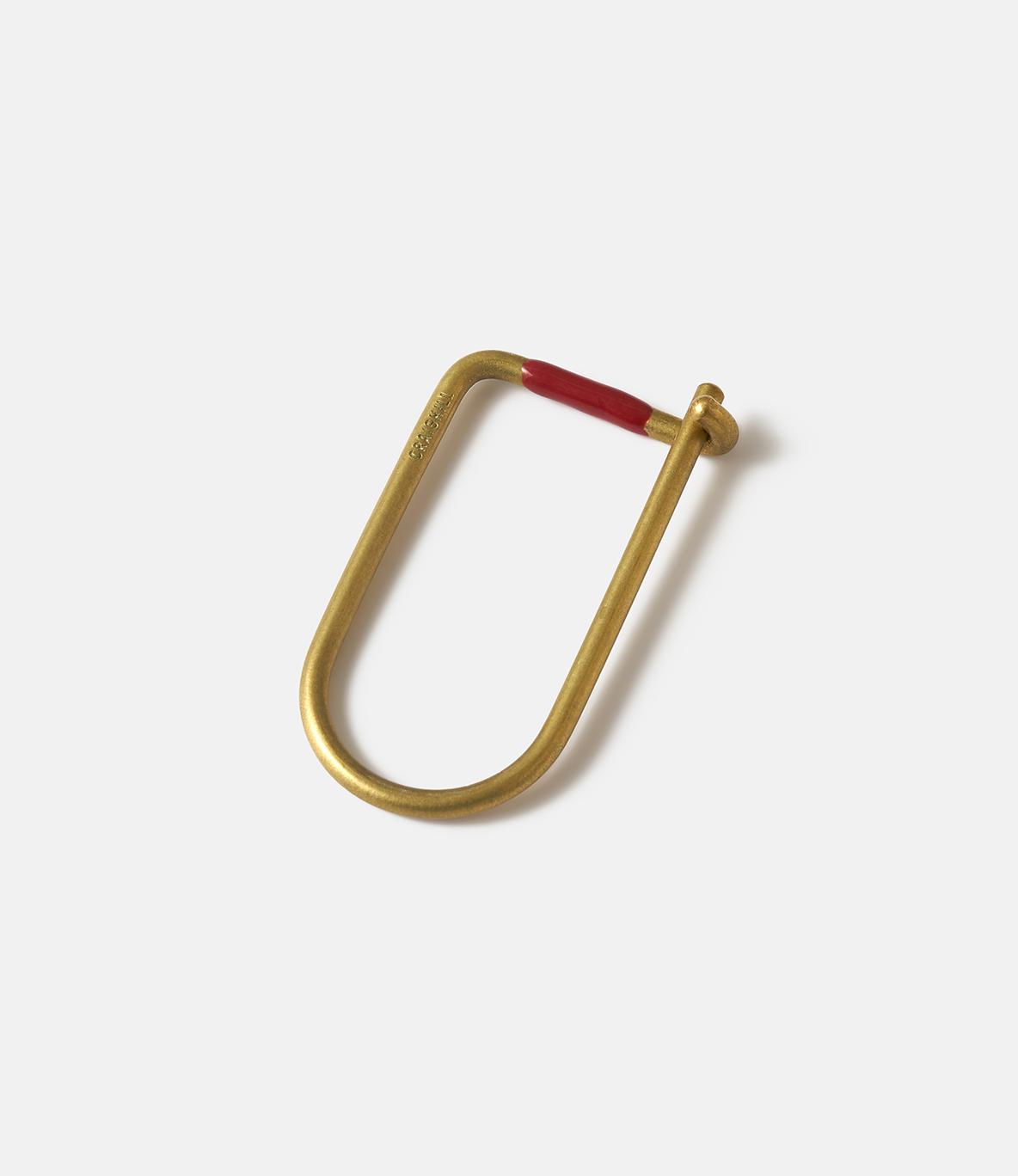 Craighill Wilson Brass Red — ключница из латуни: красная эмаль