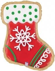 Г 27''/69 см Фигура, Новогоднее печенье, Носок для подарков, 1 шт.