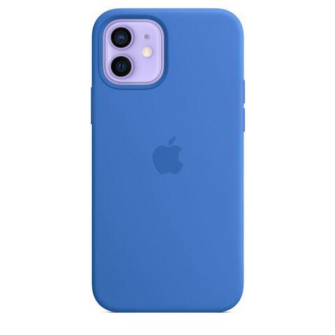 Чехол iPhone 12 Pro Max Silicone Case /capri blue/