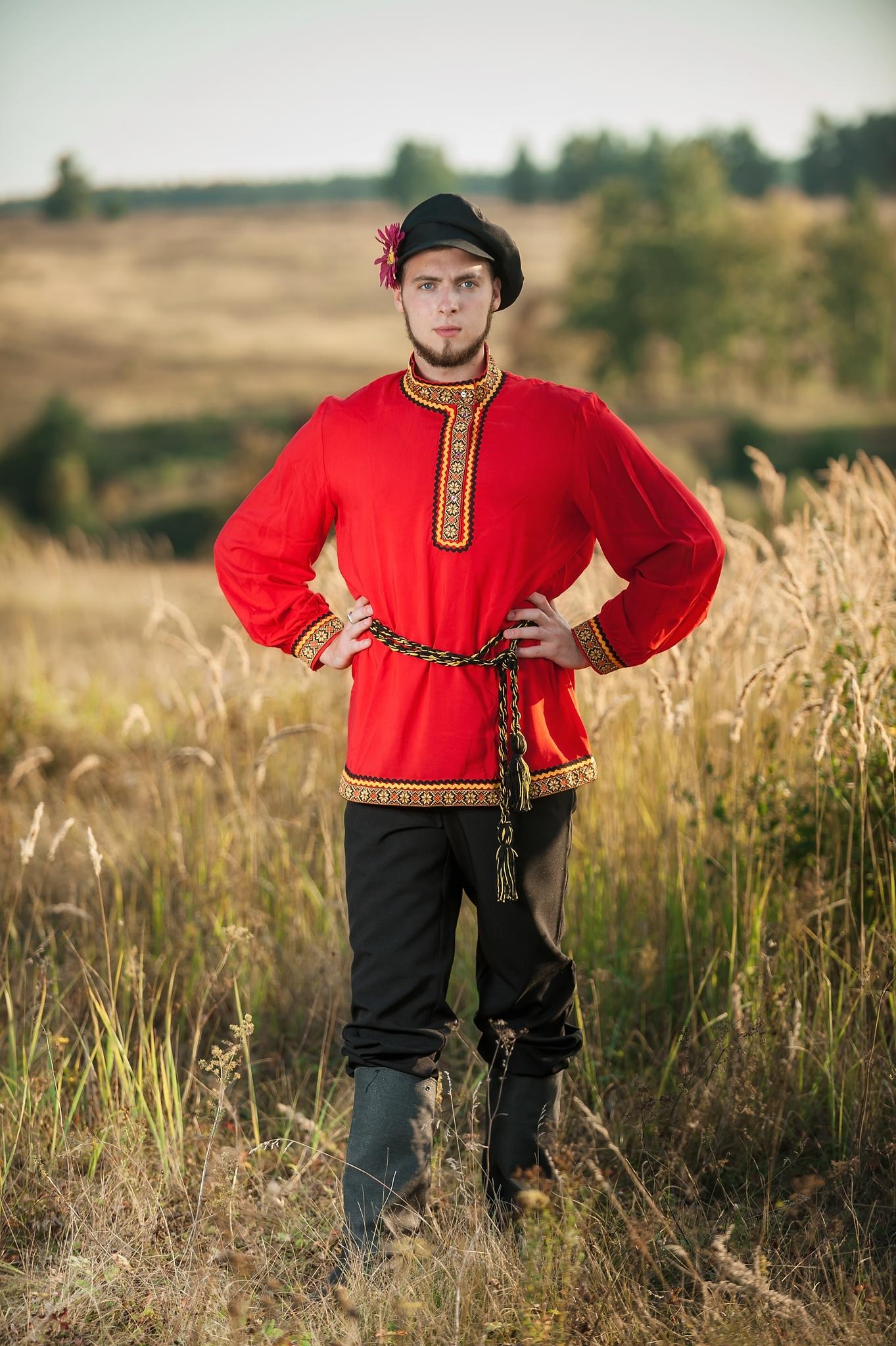 Костюм русский мужской Щедрый с поясом