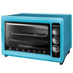 Мини печь | Духовка электрическая 1300 Вт 37 л DELTA D-0123 голубая