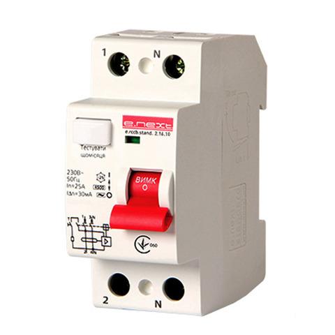 Выключатель дифференциального тока Enext stand.2.16.30 2р 16А 30mA