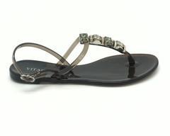 Черные силиконовые сандалии