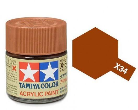 Tamiya Акрил X-34 Краска Tamiya, Коричневый Металлик (Metallic Brown) import_files_b9_b9307ef35a8411e4bc9550465d8a474f_e3fbec2f5b5511e4b26b002643f9dbb0.jpg