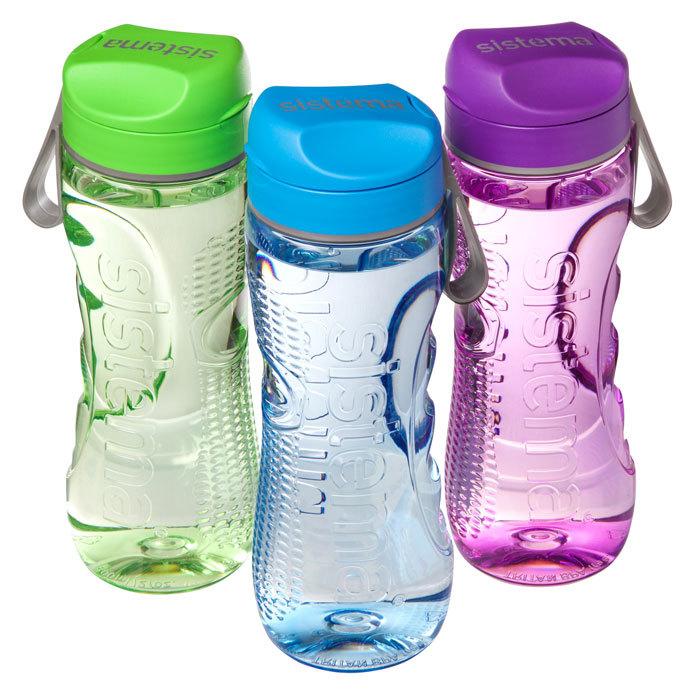 """Бутылка для воды Sistema """"Hydrate"""", Тритан, 800 мл, цвет Черный"""
