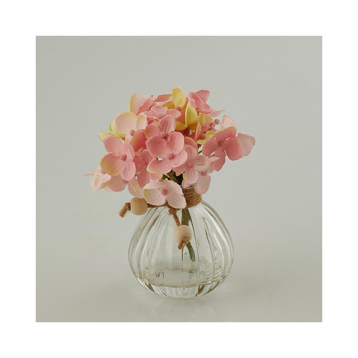 Гортензия розовая в баночке