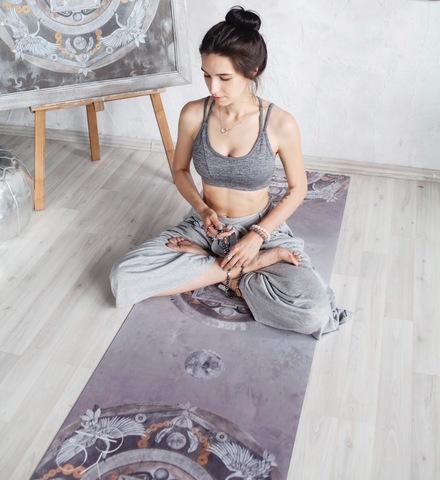 Коврик для йоги Oriental Wind 61*0,1/3/6 см из микрофибры и каучука