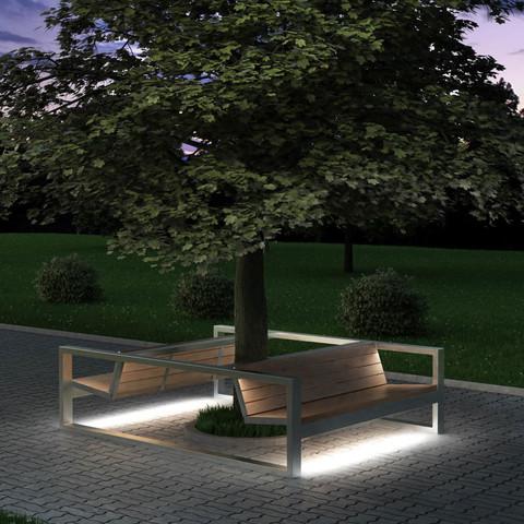 Диван сдвоенный СИТИ с подсветкой