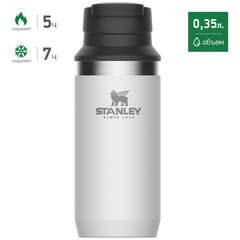 Термостакан Stanley Adventure Switchback 0.35L Белый (10-02284-017) - 2