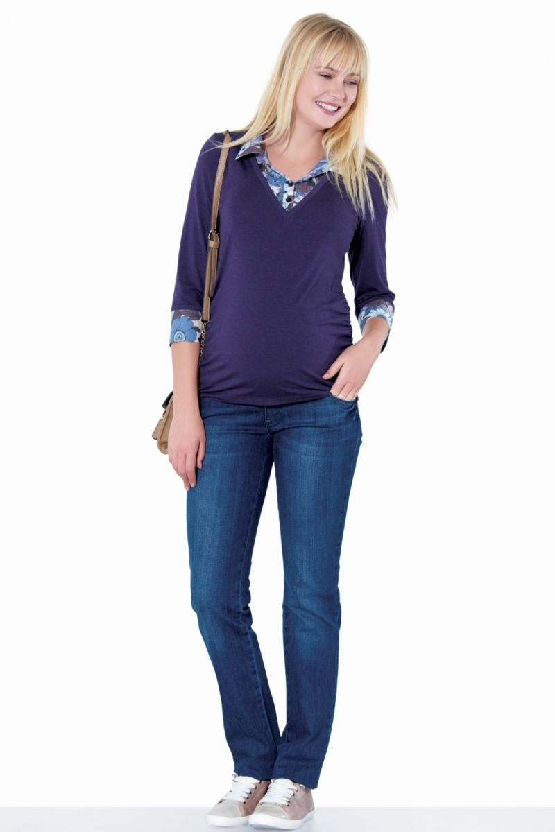 Джемпер для беременных 01378 фиолетовый