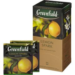Чай Greenfield Lemon Spark черный с лимоном 25 пакетиков