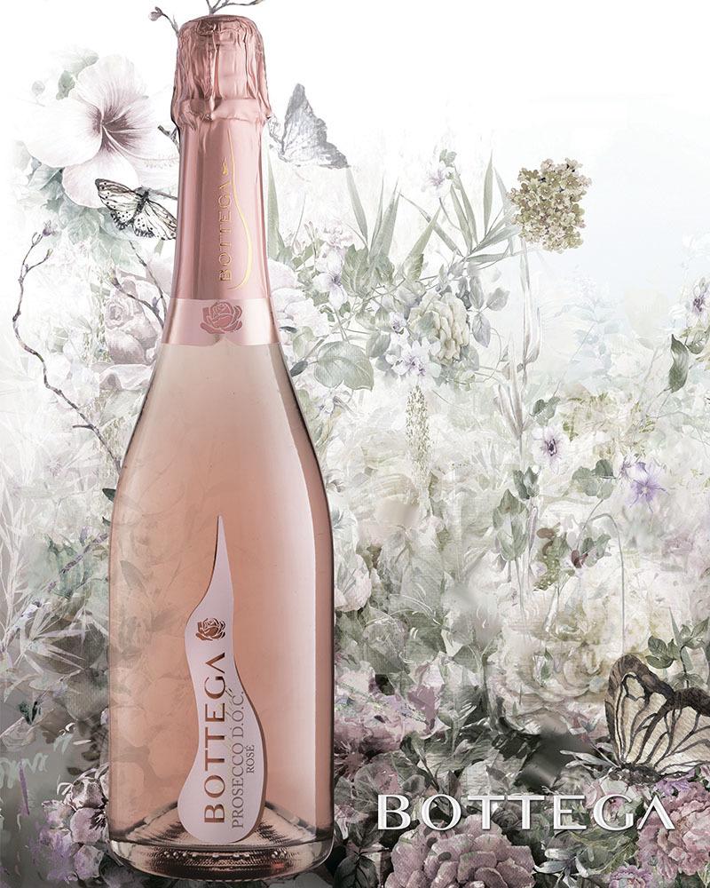 Вино Bottega Розовое Игристое Просекко Брют 11,5%, 0,75л.