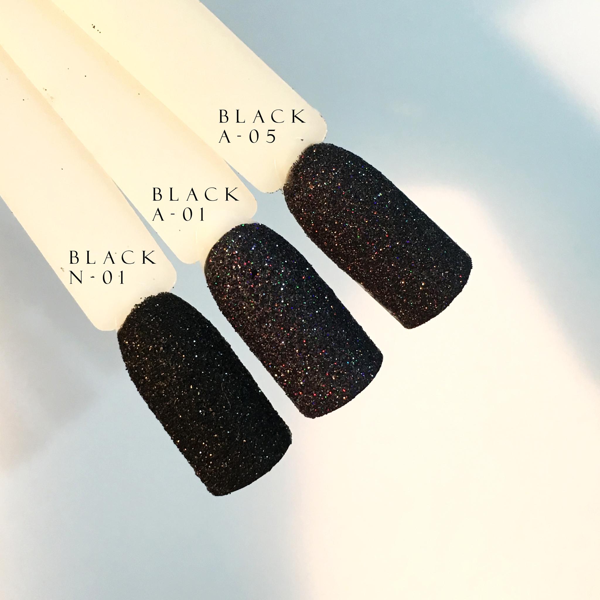 Блеск для ногтей Black A-01