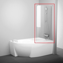 Шторка на борт ванны распашная 100х150 см правая Ravak Rosa CVSK1 160/170 R 7QRS0100Y1 фото