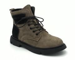 Зеленые ботинки на шнуровке
