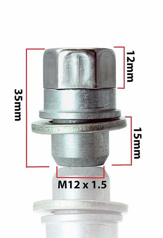 Секретные гайки HEYNER Stil-Bull 382 M12x1.5 2 ключа