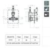 Встраиваемый термостатический смеситель для душа GAUDI 302411S на 1 выход - фото №2