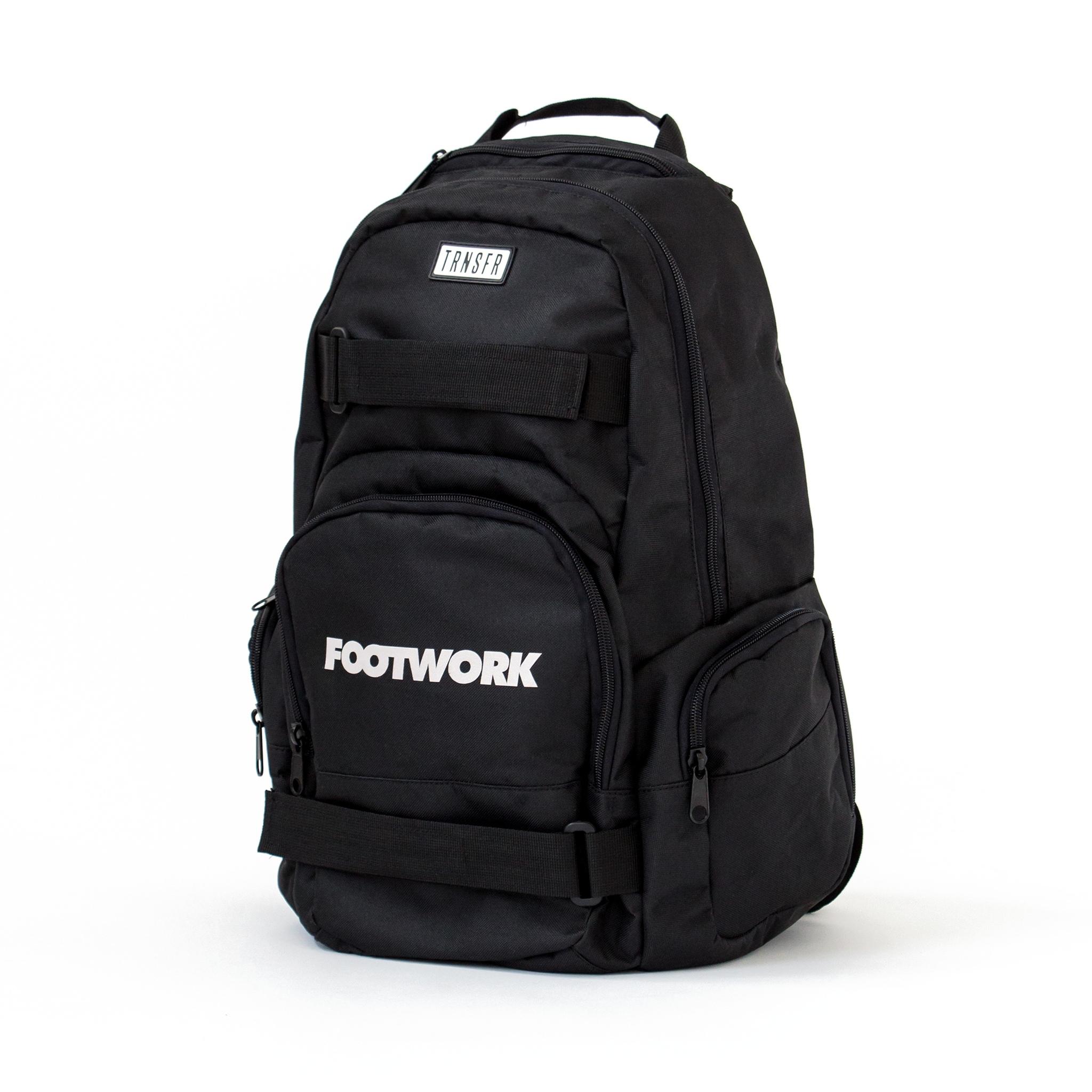Рюкзак для скейта FOOTWORK x TRANSFER (Black)