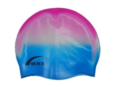 Шапочка для плавания QUICK 3D (ямки) Материал:высококачественный силикон. Пластиковая упаковка. :(QA):