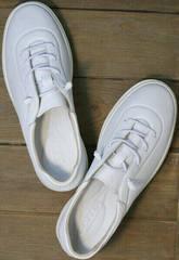 Стильные белые кроссовки женские кожа Rozen M-520 All White.