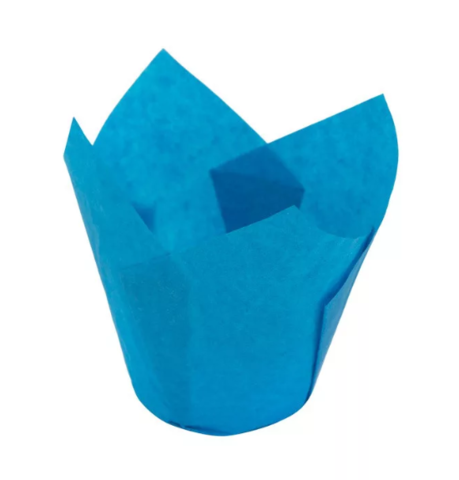 Форма-тюльпан голубая, 20шт