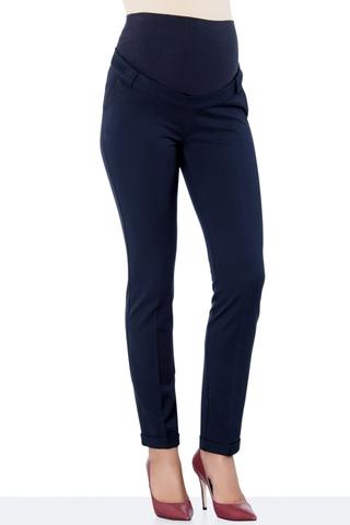 Утепленные брюки для беременных 10025 синий