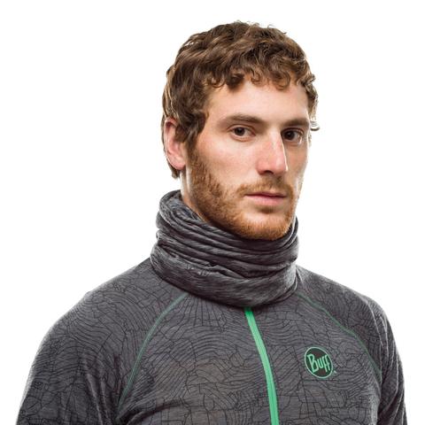 Тонкий шерстяной шарф-труба Buff Wool lightweight Graphite Multi Stripes фото 2