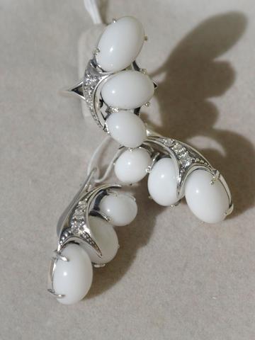 Гроздь (кольцо + серьги из серебра)