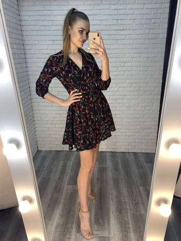 темное летнее платье купить