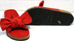 Ортопедические шлепки сандалии женские на плоской подошве Comer SAR-15 Red.