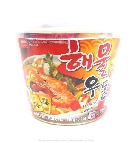 Удон со вкусом морепродуктов Seafood flavor udong, Корея, 196 гр.