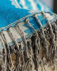 Бирюзовый мягкий шарф с добавлением шерсти яка, 100х200 см, Непал