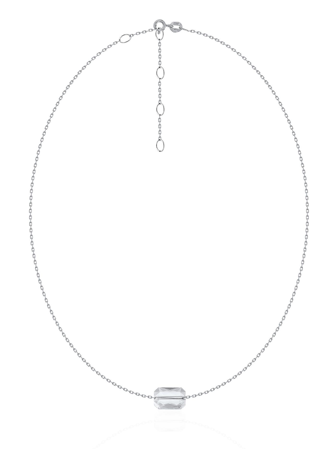 Серебряный чокер с кристаллом Swarovski в подарочной коробке