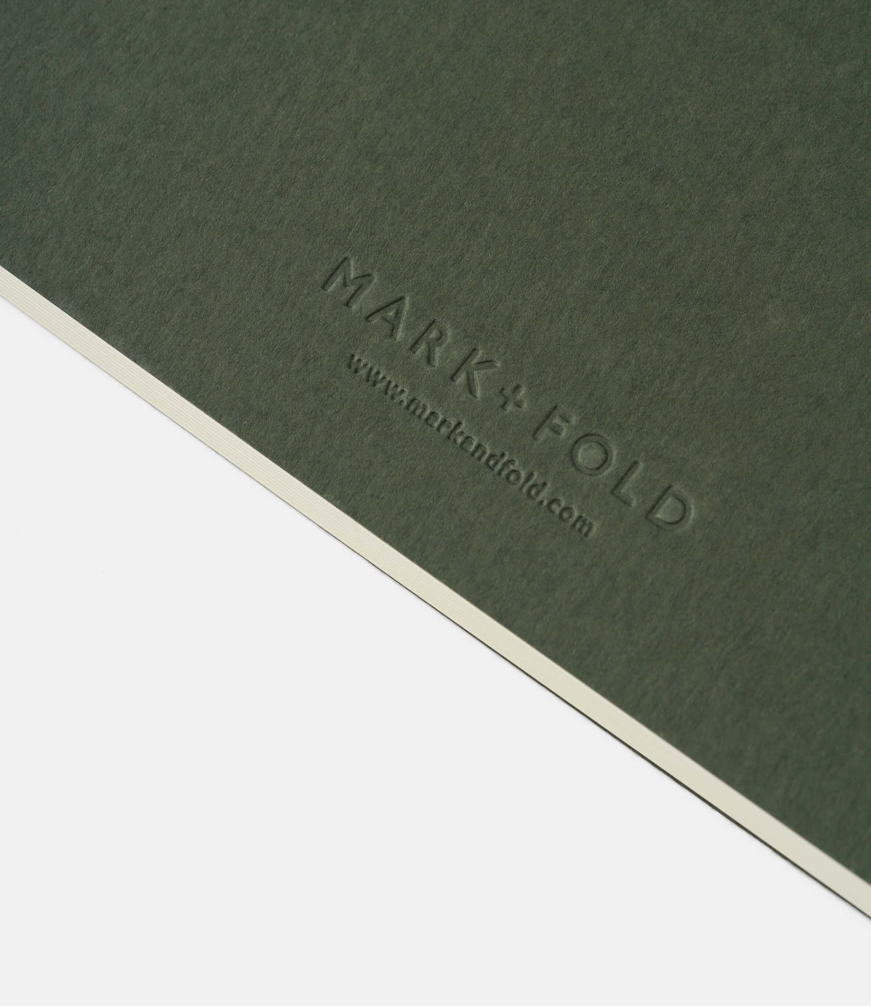 Mark+Fold Plain Notebook — линованный блокнот А5: зелёный