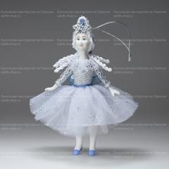 Ёлочная игрушка Девочка-Снежинка