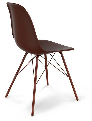 Стул Eames S37 brown (металл. каркас. цвет - коричневый/медный мет.)