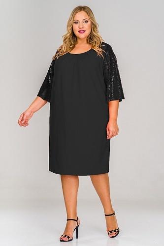 Платья Платье креп с широким рукавом из пайеток 1517201 4aad3330923bcadd60f9f048634cf160.jpg