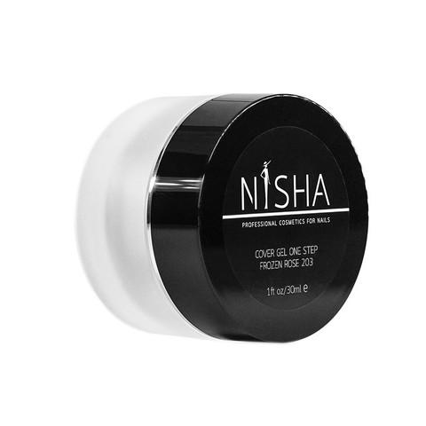 Гель камуфлирующий Nisha Cover Gel One Step Frozen Rose 30ml 203