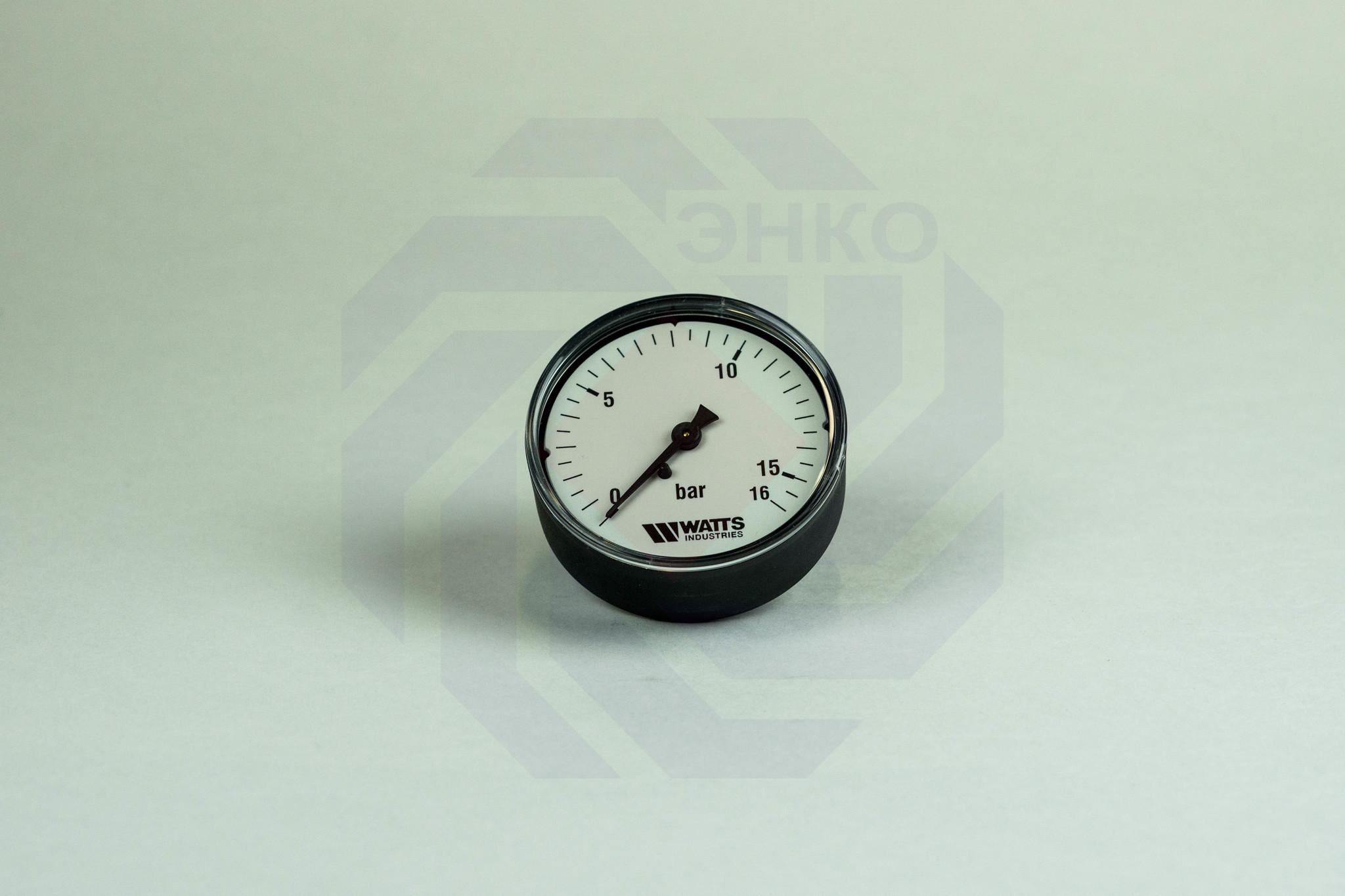 Манометр аксиальный WATTS MDA 63/16 (F+R100) 0-16 бар 63 мм ¼