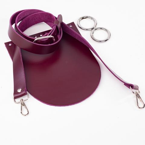 """Комплект для сумочки Орео  """"Вино"""" (без застежки)"""