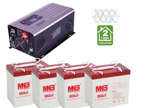 Комплект ИБП HPS30-5048-АКБ MM55 (48в, 5000Вт)