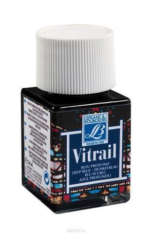 Краска по стеклу Lefranc&Bourgeois VETRAIL 50 мл 465, насыщенный голубой