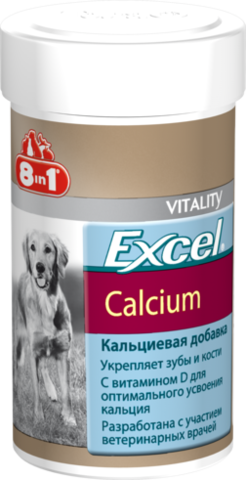 Excel Calcium 8in1. Кальцієва добавка для собак.